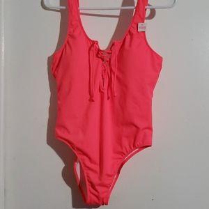 Hot Peachy Orange - VS PINK•   One-Piece Swimsuit